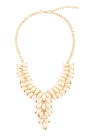 Riah Fashion Satin Gold Necklace - Front cropped