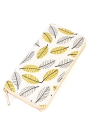 Riah Fashion Yellow Grey Zipper Wallet - Product Mini Image