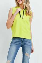 Riah Fashion Yellow-Lime-Top - Front full body