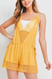 Riah Fashion Yellow Romper - Front cropped