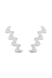 Riah Fashion Zig-Zag Earring Crawlers - Product Mini Image