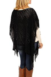 Riah Fashion Zig Zag Poncho - Side cropped