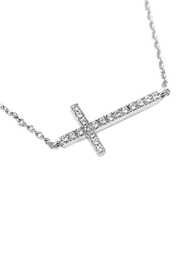 Riah Fashion Zircon-Cross-Pendant-Necklace - Product Mini Image