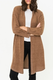 Mystree Rib Contrast Slvs Detail Cardigan - Product Mini Image
