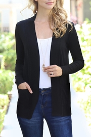 Riah Fashion Rib-Detail/open-Front Pocket Cardigan - Product Mini Image