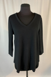 Dylan by True Grit Rib Knit 3/4 Deep V- Neck - Product Mini Image
