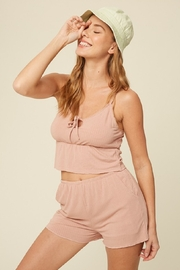 Listicle Rib Knit Cami + Short Set - Product Mini Image