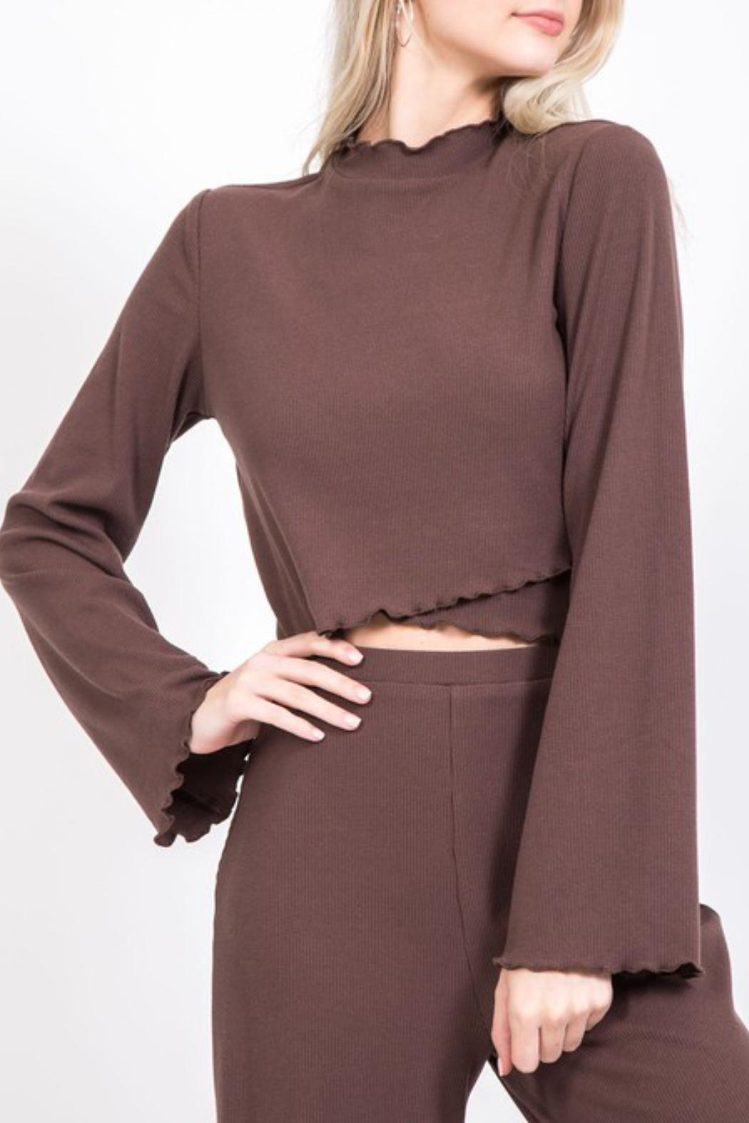 LoveRiche Rib Knit Oufit - Side Cropped Image