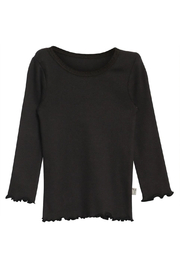 Wheat Rib Lace Long Sleeve T-Shirt - Product Mini Image
