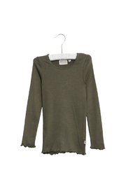Wheat Rib Long Sleeve T-Shirt Lace - Ivy - Product Mini Image