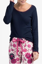 Hatley Rib Lounge Tops - Front cropped