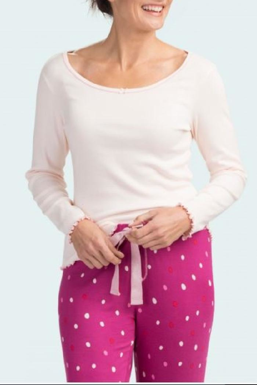Hatley Rib Lounge Tops - Front Cropped Image