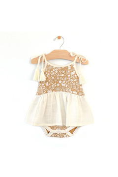 Shoptiques Product: Rib & Muslin Bodysuit Dress - Golden Garden