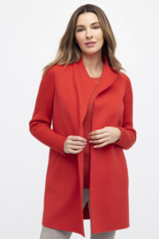 Kinross Cashmere RIB SLEEVE COAT - Front cropped