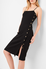 French Connection Rib Square Neck Dress - Product Mini Image
