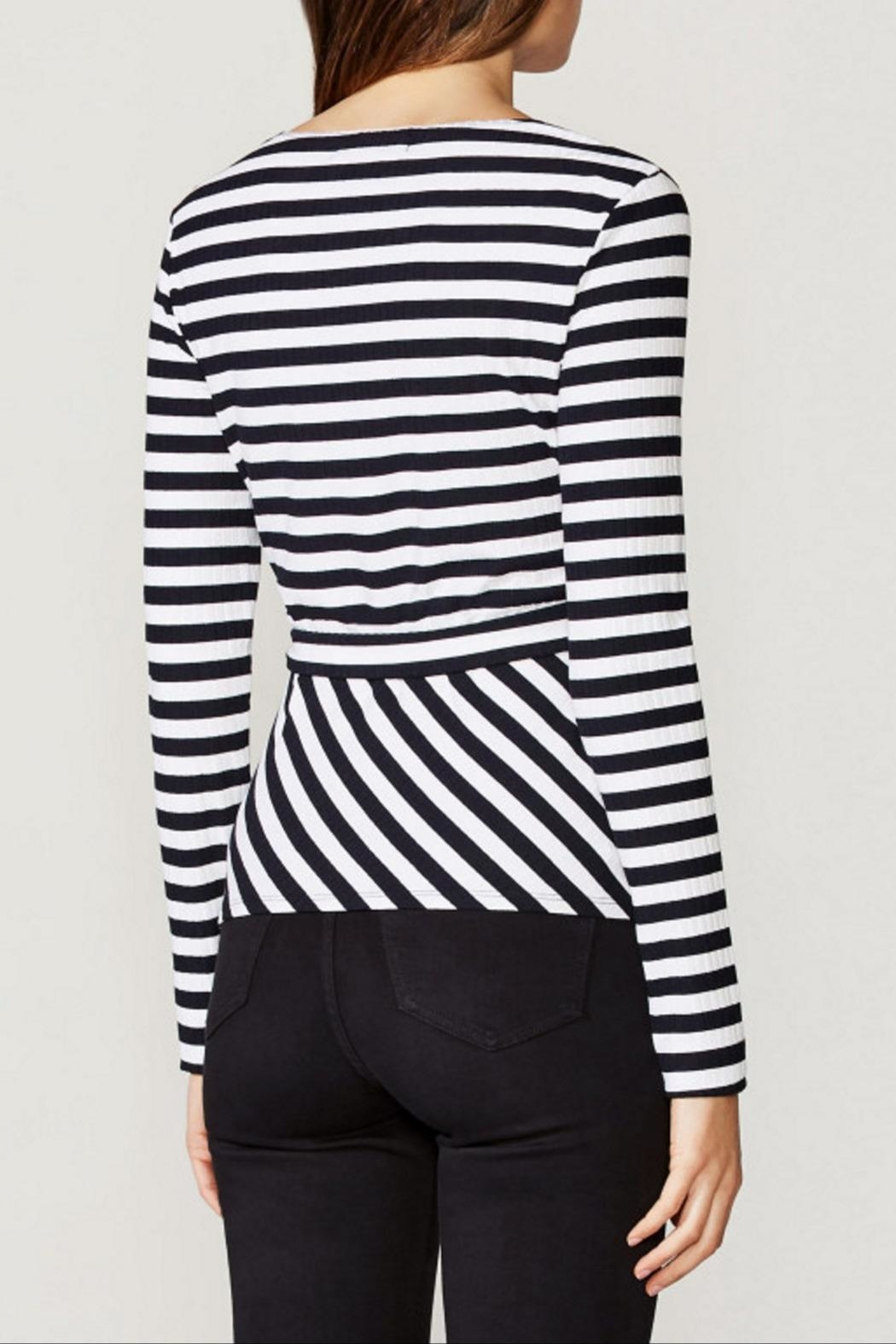 Bailey 44 Rib Stripe Top - Side Cropped Image