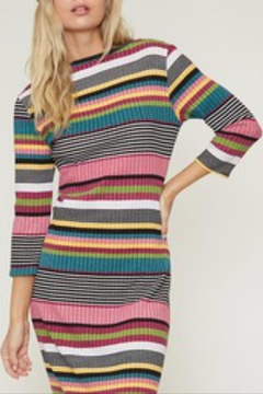 Fantastic Fawn Rib Striped Dress - Alternate List Image