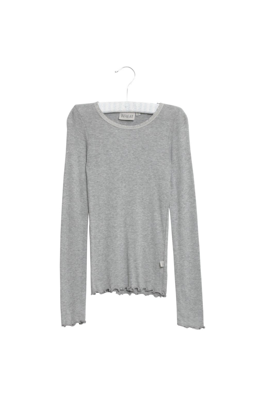 Wheat Rib T-Shirt Lace LS - Front Cropped Image