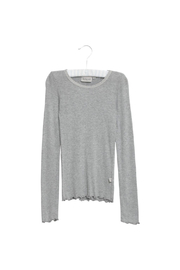 Wheat Rib T-Shirt Lace LS - Front cropped