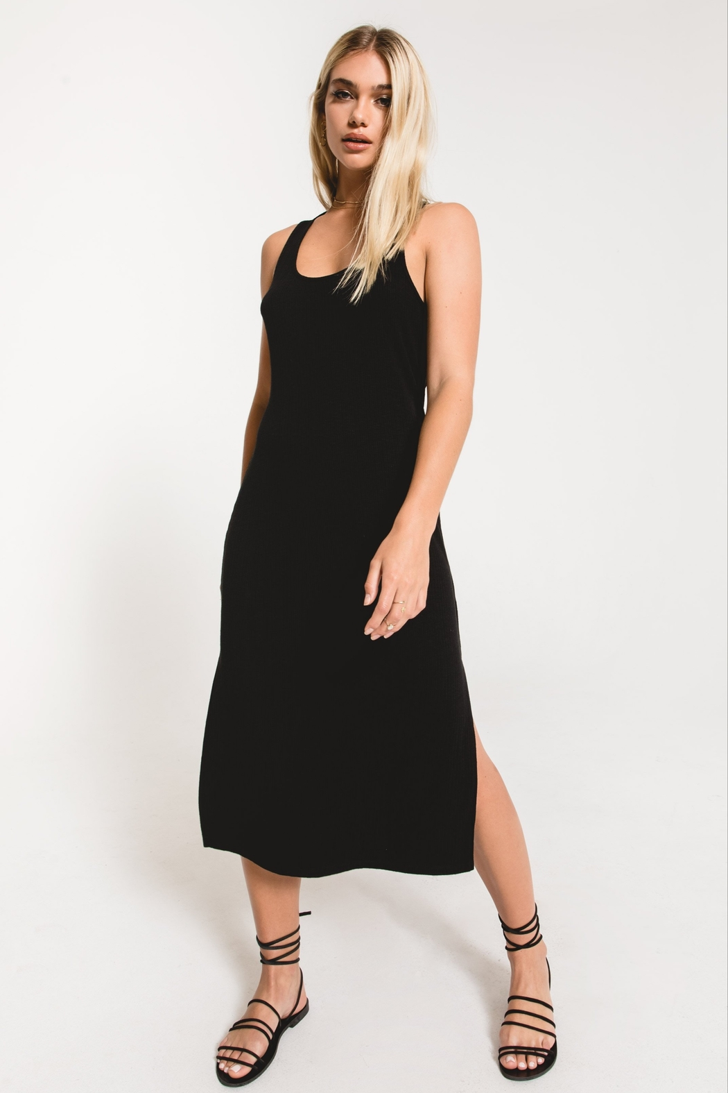Z Supply  Rib Tank Dress - Front Cropped Image