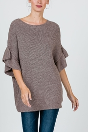 Cozy Casual  Ribbed 3/4 Sweater - Product Mini Image