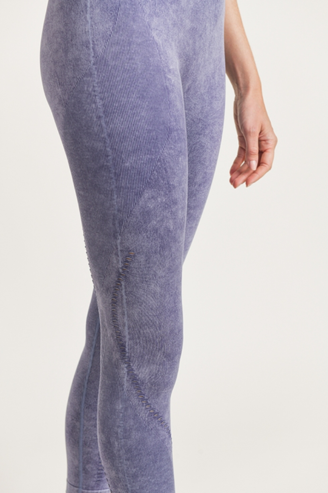 Mono B  Mineral Washed Seamless Leggings - Front Full Image