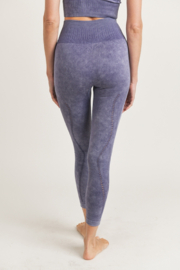 Mono B  Mineral Washed Seamless Leggings - Back cropped