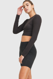 Mono B Ribbed Athleisure Top - Product Mini Image