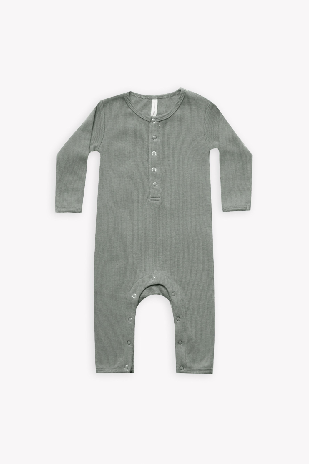 Quincy Mae Ribbed Baby Jumpsuit - Front Cropped Image