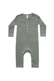 Quincy Mae Ribbed Baby Jumpsuit - Front cropped
