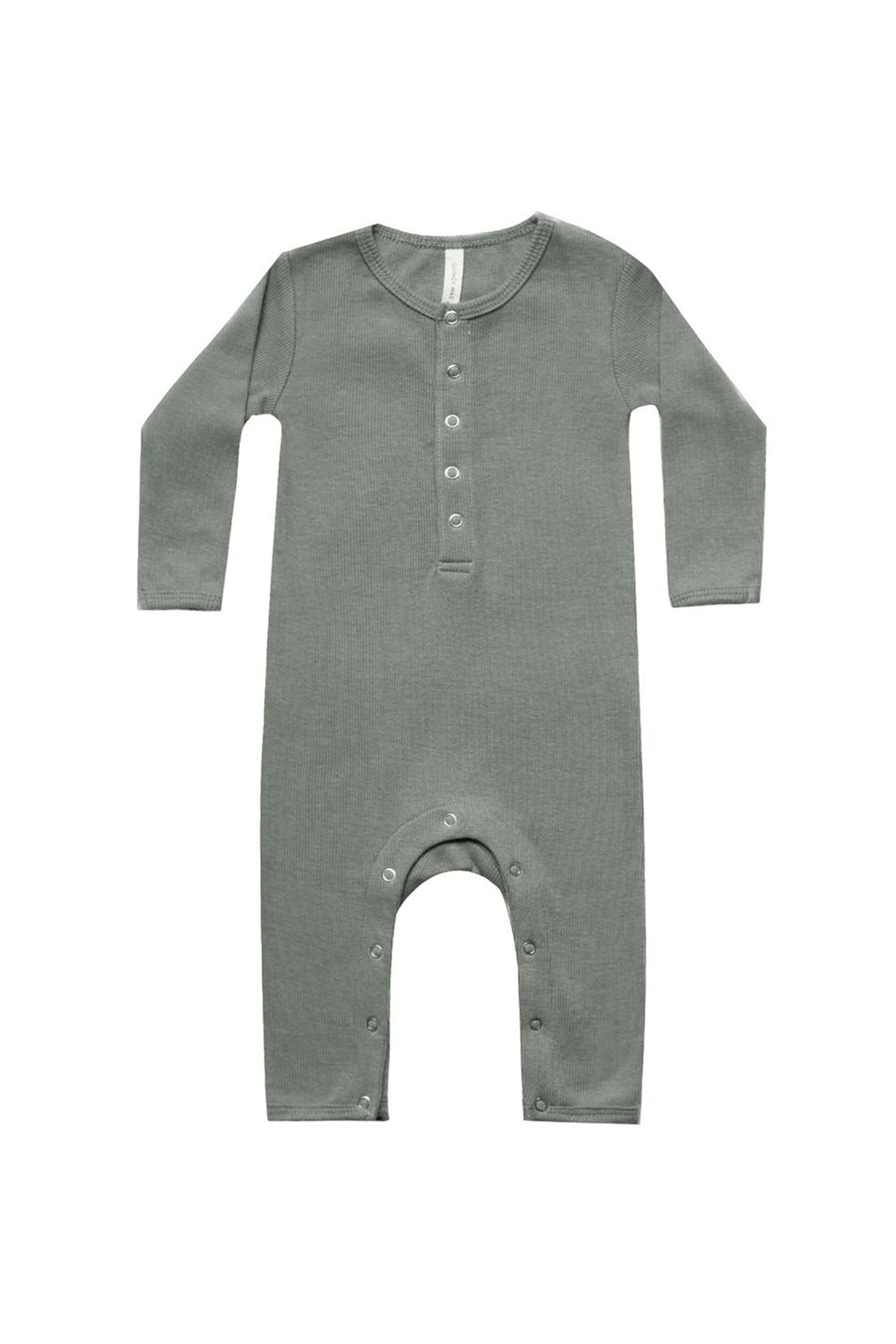 Quincy Mae Ribbed Baby Jumpsuit - Main Image