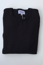 Meli by FAME RIBBED BASIC CREW - Front cropped