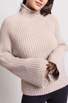 Dee Elly Ribbed Bell-Sleeve Sweater - Product List Image