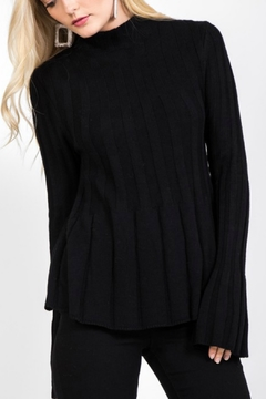 Shoptiques Product: Ribbed Bell Sleeve Sweater