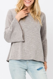 Cozy Casual Ribbed Bell-Sleeve Top - Product Mini Image