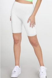 TIMELESS Ribbed Biker Shorts - Product Mini Image