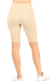 Suzette Collection Ribbed Biker Shorts - Product Mini Image