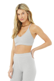 Alo Yoga  Ribbed Blissful Bra - Front cropped