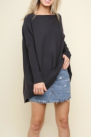 Umgee USA Ribbed Boat Neck - Front cropped