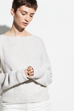 Vince Ribbed Boatneck Sweater - Product List Image