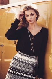 Fifteen Twenty Ribbed Cardi Top - Front cropped