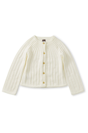Tea Collection Ribbed Cardigan - Front cropped
