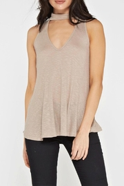 Maronie  Ribbed Choker Tank - Product Mini Image