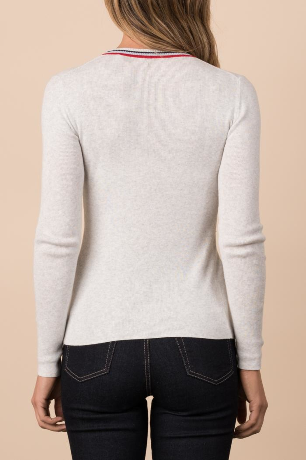 Margaret O'Leary Ribbed Crew - Side Cropped Image