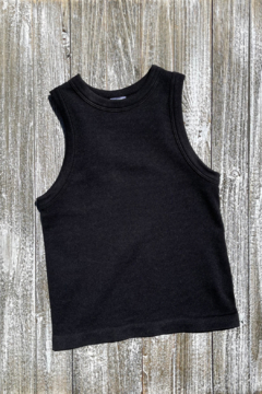 Dynamic Fashion Ribbed Crew neck crop Tank - Product List Image