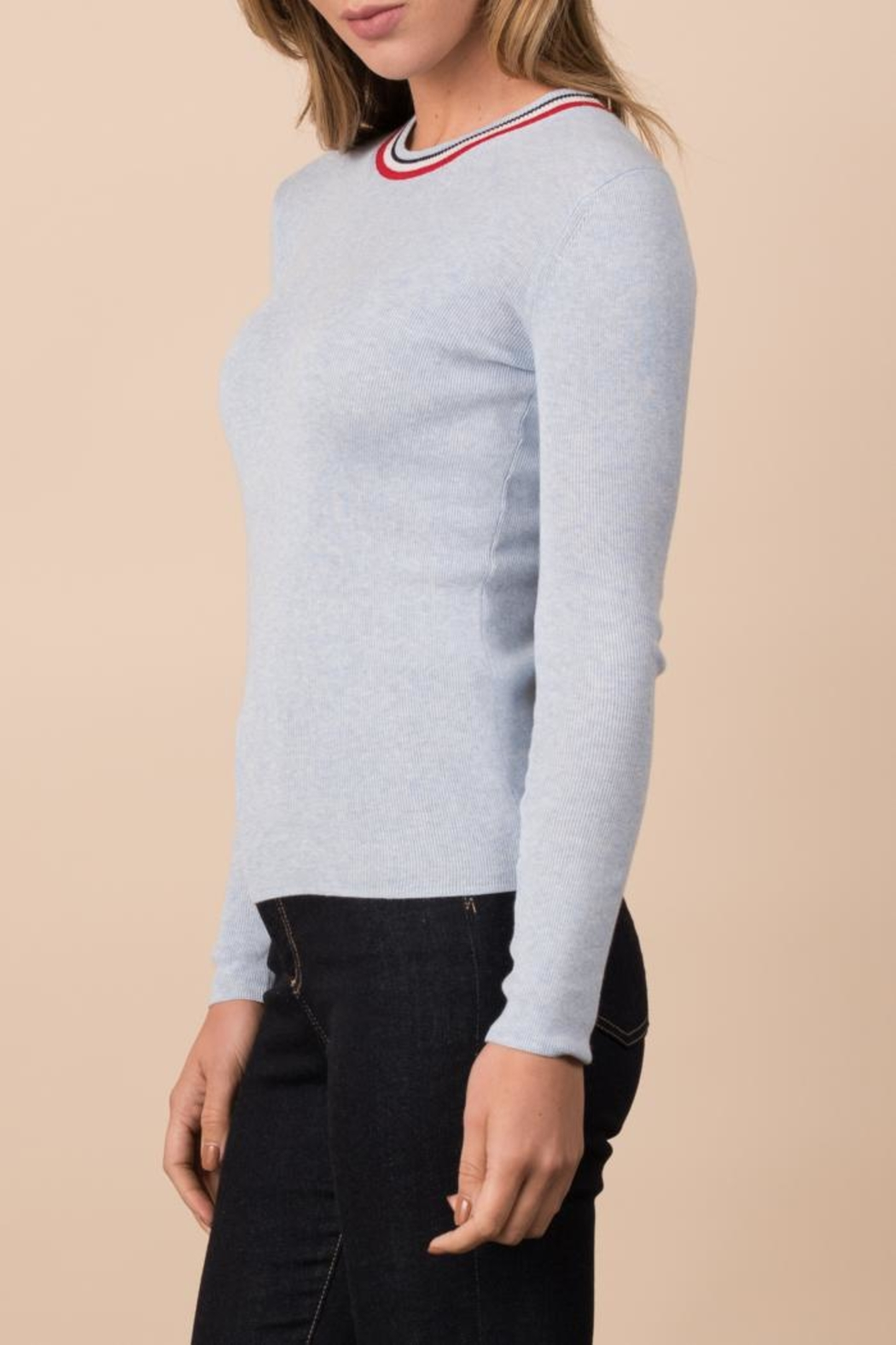 Margaret O'Leary Ribbed Crew - Front Full Image