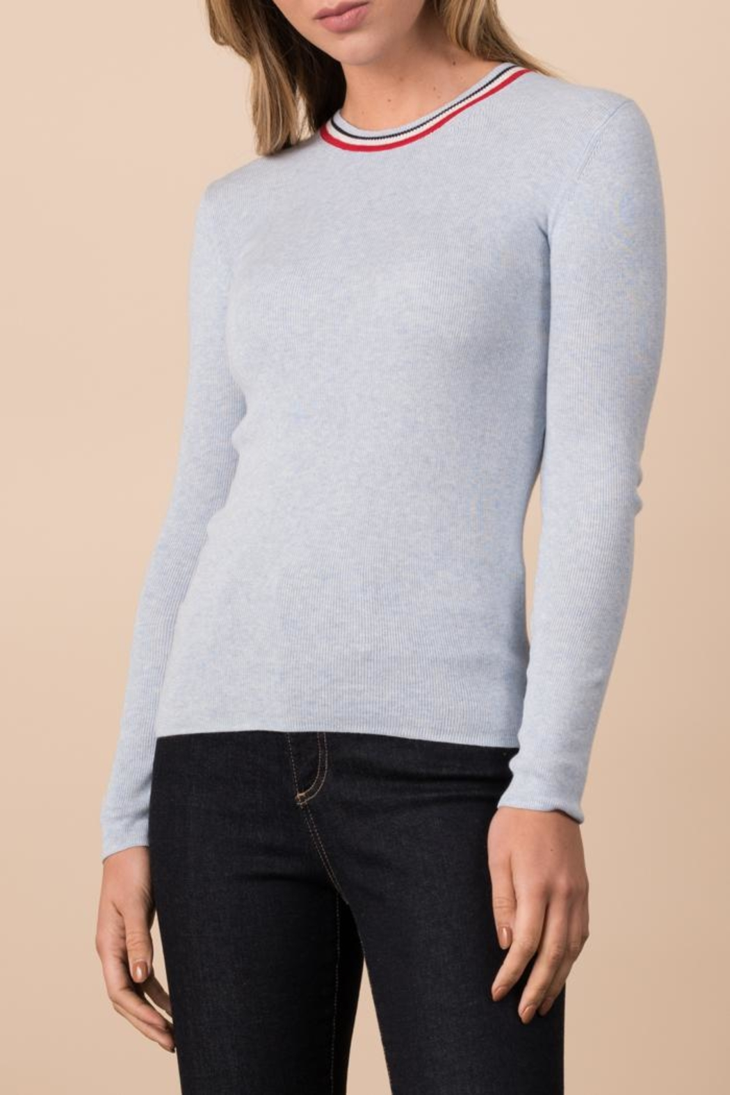 Margaret O'Leary Ribbed Crew - Front Cropped Image