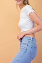 Le Lis Ribbed Crop Tee - Back cropped