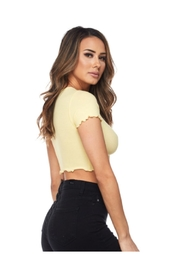 Hot & Delicious Ribbed Crop Top - Front full body