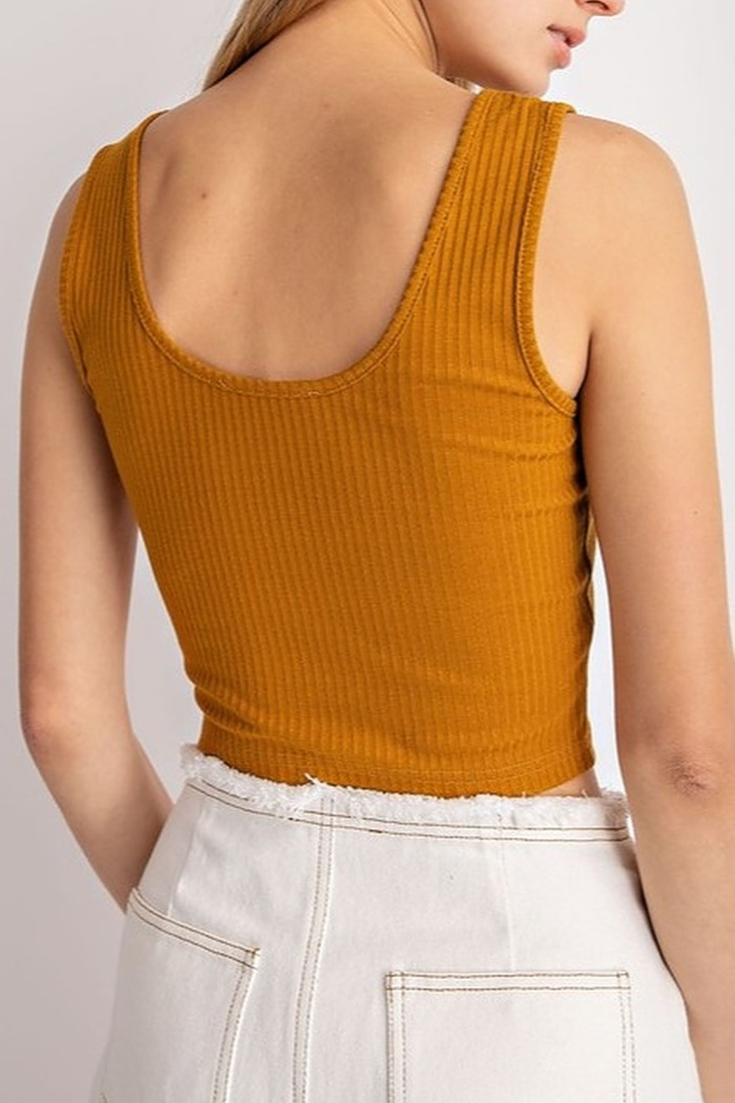 Le Lis Ribbed Crop Top - Side Cropped Image